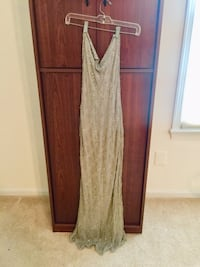 Gorgeous sequins silver dress size 12