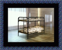 Twin bunk bed frame with mattress Greenbelt