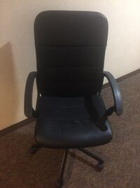 black leather office rolling armchair San Diego, 92122