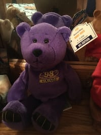 Purple 98 Randy Moss vikings bear plush toy