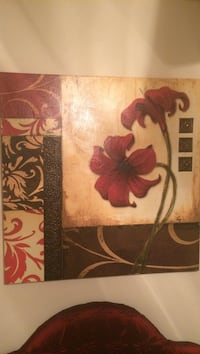 painting of red petaled flower board Houston, 77077