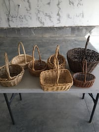 seven brown wicker baskets Highland, 84003