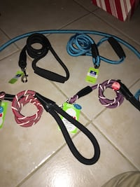 Five large brand new dog leashes 1292 mi