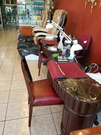 brown wooden table and chair lot West Covina, 91792