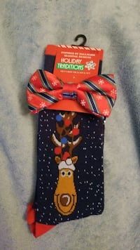 Men's Holiday Bow tie and Sock set