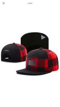New Black and red fitted cap 548 km