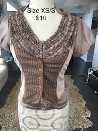 Brown silk blouse  549 km