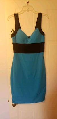 Xoxo fitted blue dress