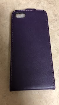 Brand new Purple leather flip case for IPhone 5s