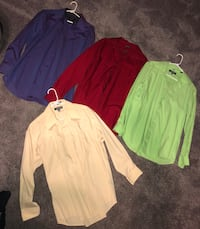 three assorted color long-sleeved shirts Hagerstown