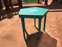 Square green wooden side table - price reduced Valley Park, 63088