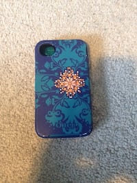Teal and purple floral iphone 4 case Kitchener, N2E 4C2