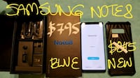Amazing NEW BLUE SAMSUNG NOTE 8 64 GB *MINT10/10*