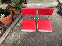 Vintage stadium seats (2)with clasps Spring, 77381