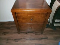 brown wooden 2-drawer nightstand Irving, 75060