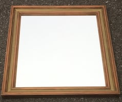 Brown wooden Mirror.