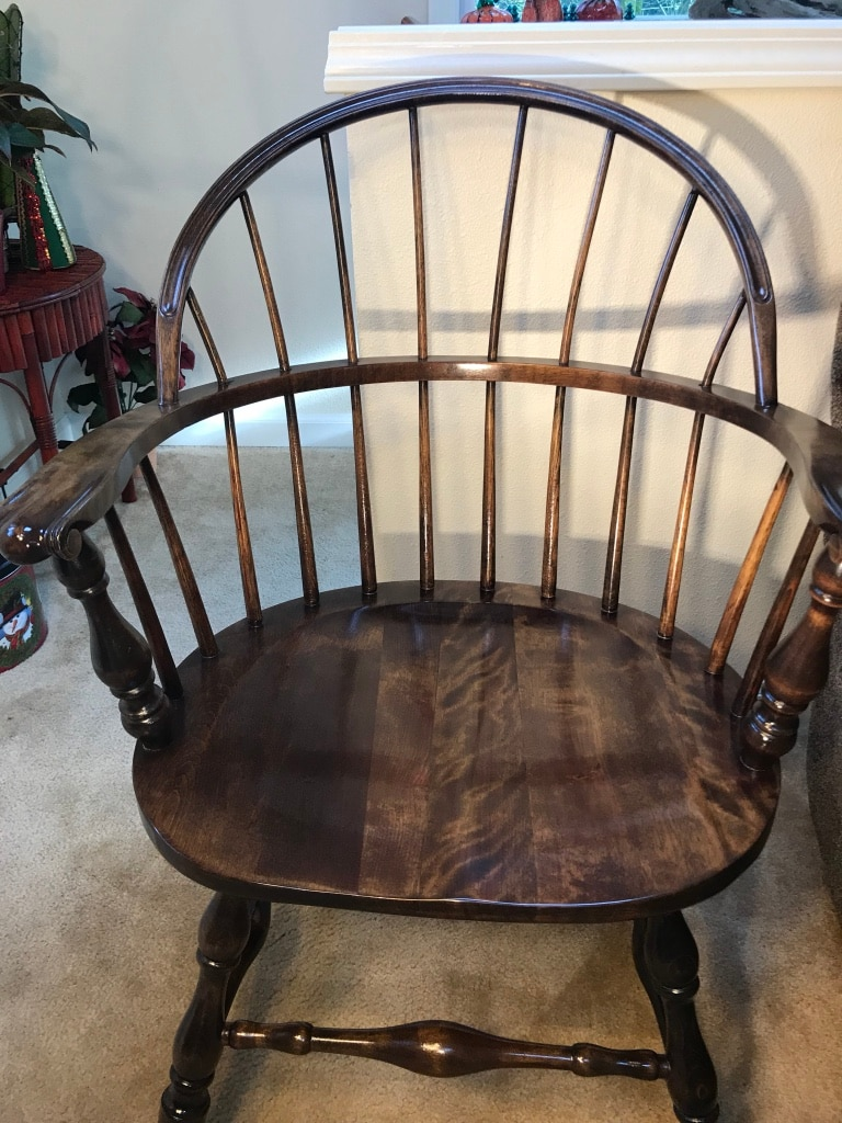 Sack Back Windsor Arm Chair W/ Knuckle Arms   Excellent Condition!!!!