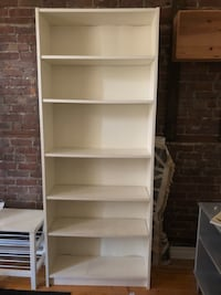 white wooden 5-layer shelf Montréal, H4C