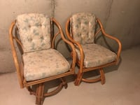 Brown wooden frame white padded armchair Burlington, L7L 6K4