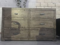 Great dresser. Moved and it doesn't go well in new house. Very good  condition  besides bottom right drawer is a little off track. Just can't put anything too heavy in that one drawer Los Angeles, 90065