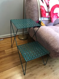 Urban Outfitters Teal Two-Tier Side Table Alexandria, 22314