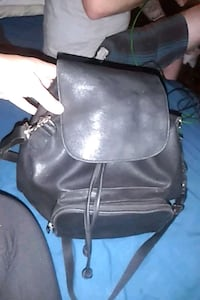 Kenneth Cole black leather smaller backpack/purse London, N6H 1M9