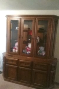 brown wooden china buffet hutch 562 mi