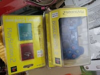 PS2 Blue constroller, and memory cards boxes
