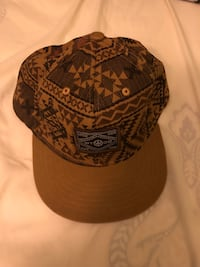 Brown tribal print snapback