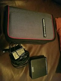 Gameboy advance sp carry case ,charger and 1 game 2197 mi