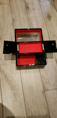 black and red wooden jewellery box cabinet Vaughan, L4H 2G5
