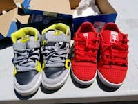 two pairs of red and black Nike sneakers Apple Valley, 92307