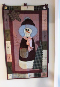 HANDCRAFTED COUNTRY SNOWMAN WALL HANGING Fort Mill