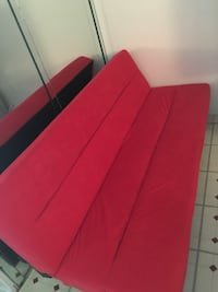 Red fabric sofa bed 918 mi