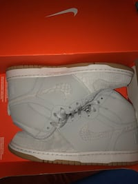 pair of white-and-grey Nike high-top sneakers Winnipeg, R2W