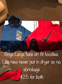 Like new  boys Nike hoodies