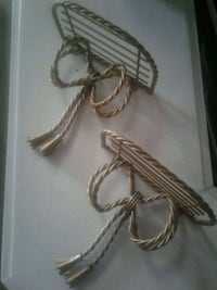 2 gold twisted metal shelves Kitchener, N2K 4J7