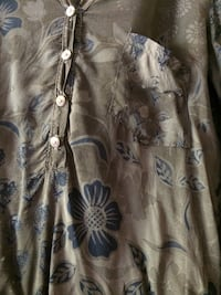 Camicia a maniche lunghe button-up floreale marrone e bianca Bottai, 50023