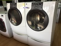 Kenmore white washer and dryer set with pedestals  Woodbridge, 22191