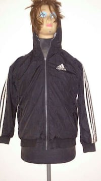 Black and white Adidas full-zip  jacket