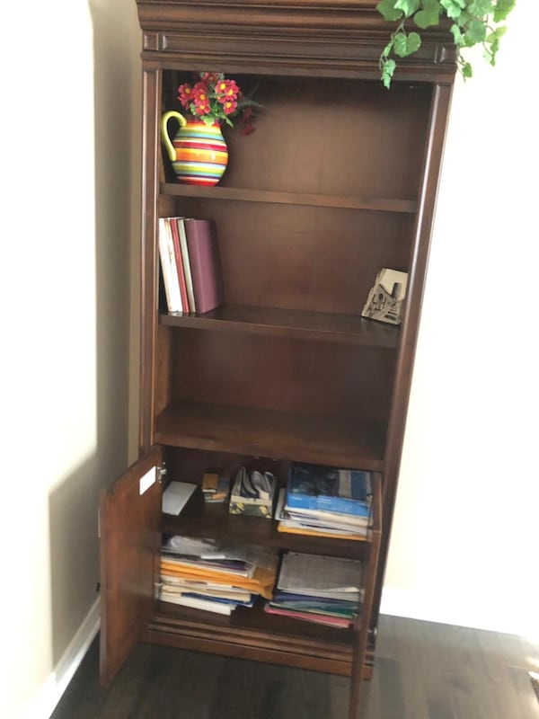 Office wood bookcase from Lowe's 86afac42-4a02-4da6-b3ce-beb80387f5be