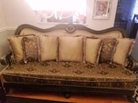 brown and beige floral fabric sofa Germantown