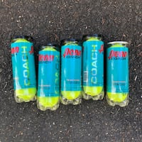 5 Unopened Cans of Penn Coach Tennis Balls