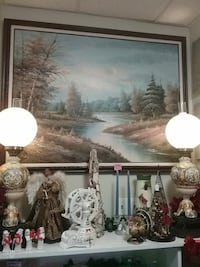 Large signed oil painting