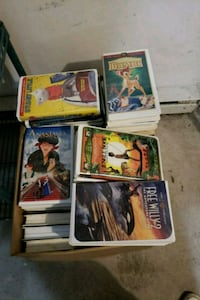 Full box of various VHS collections 781 km