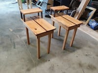 Two maple and walnut night stands or end tables Akron, 44312