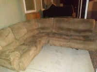 brown suede sectional sofa with sleeper  1922 mi
