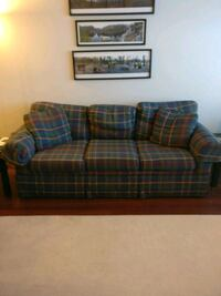 brown and blue plaid loveseat Minneapolis, 55443