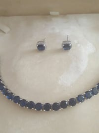 Sapphire tennis bracelet and earrings El Cajon, 92021