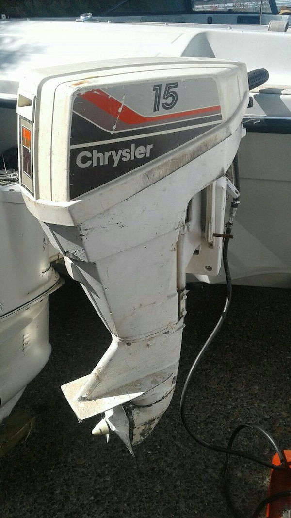 Used white, black and gray Chrysler outboard motor for sale in Delta - letgo